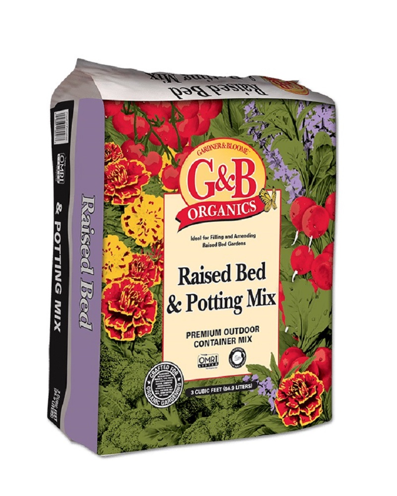 G&B Organics Raised Bed & Potting Mix 3 cf. bale