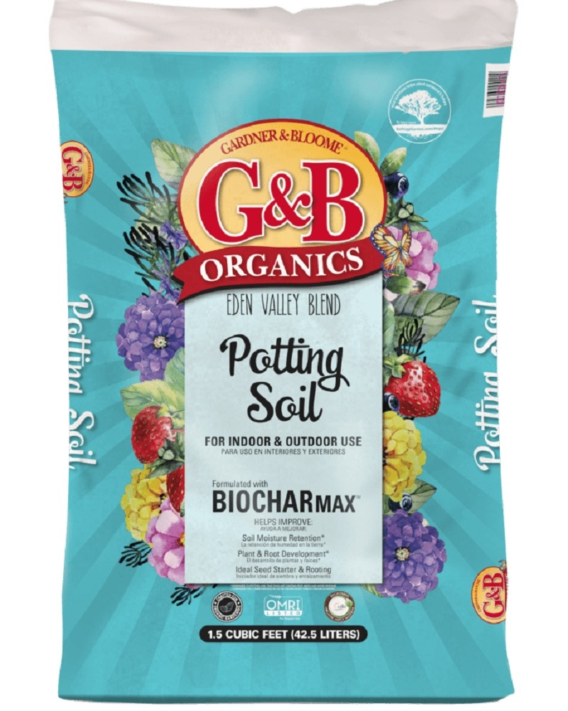 G&B Organics Eden Valley Blend Potting Soil with BIOCHARmax  1.5 cf. bag