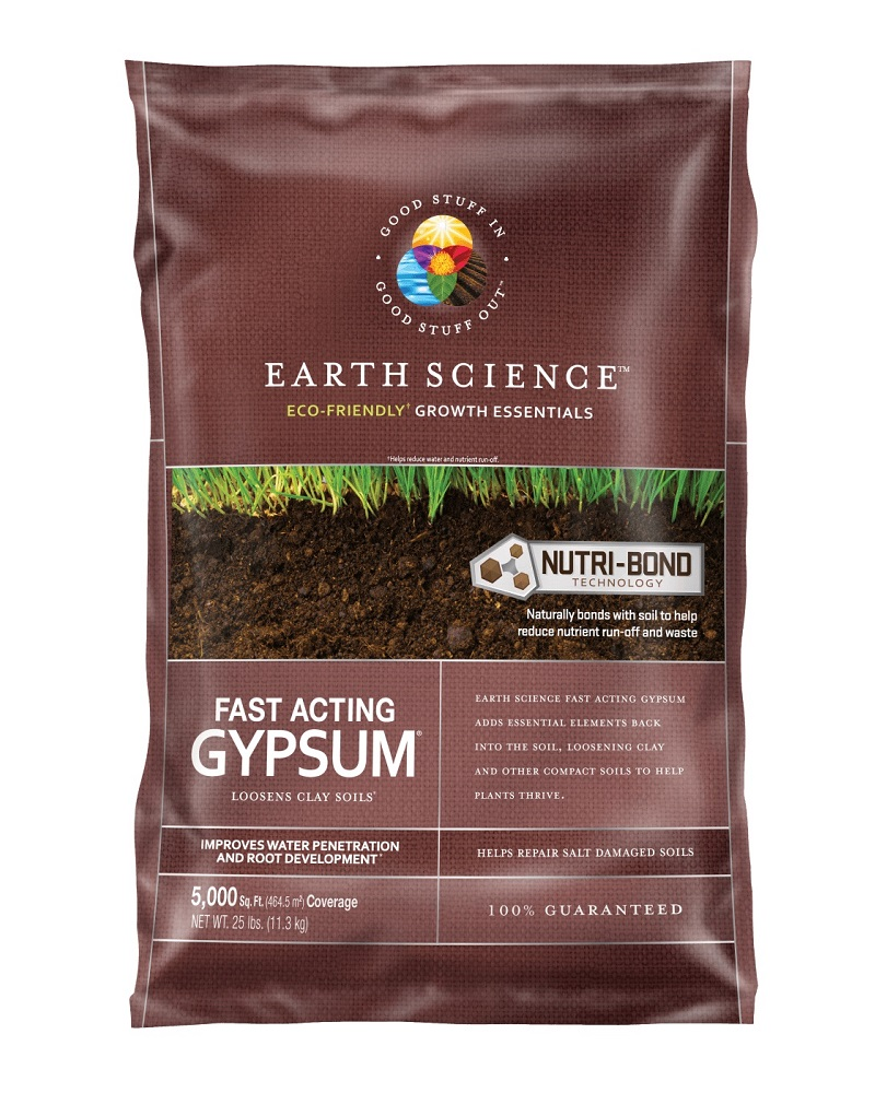 Earth Science Fast Acting Gypsum  25 lbs. bag