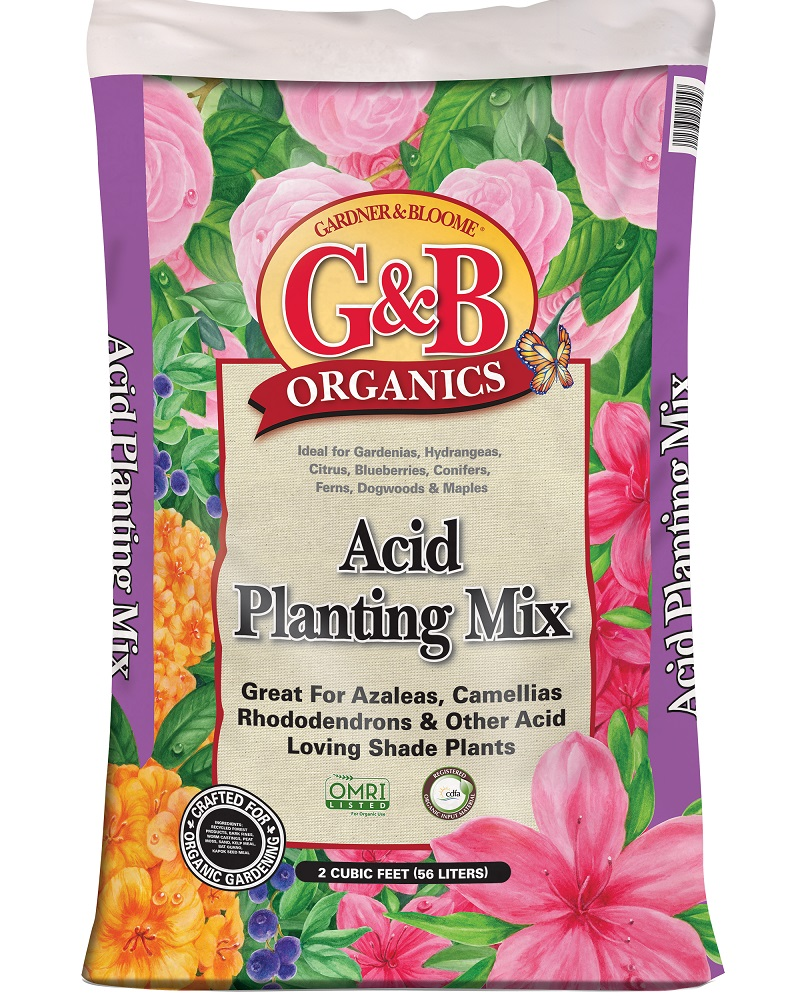 G&B Organics Acid Planting Mix  2 cf. bag