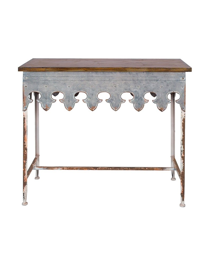 Scalloped Edge Wood Top Table