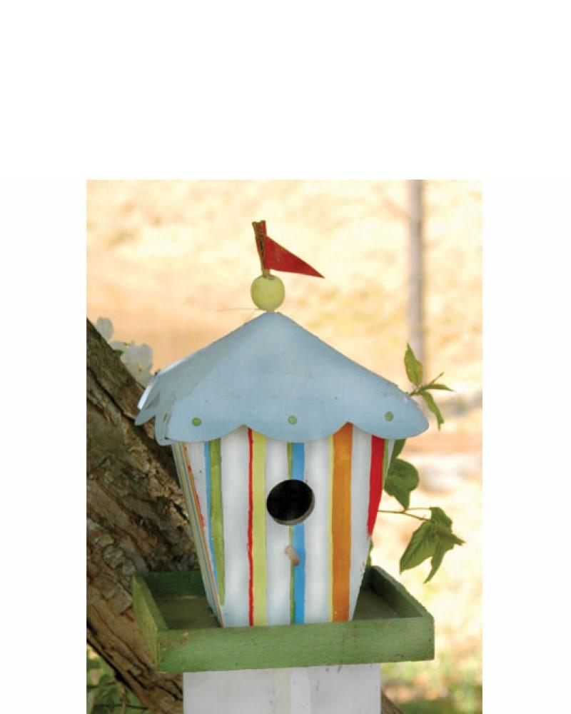Circus Tent Birdhouse