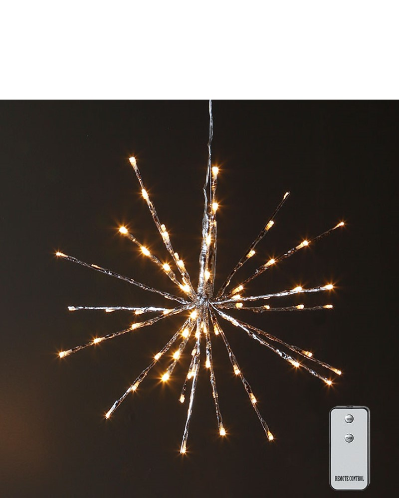 Silver Starburst with Lights 18""