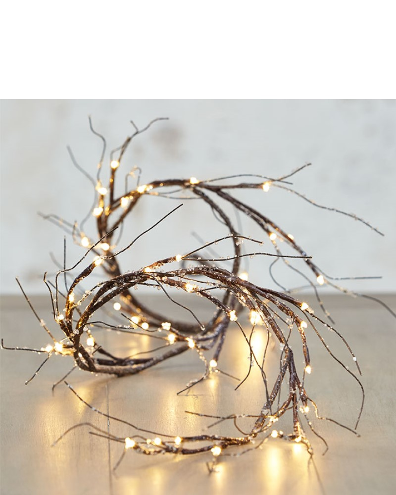 Iced Garland with Lights 6'