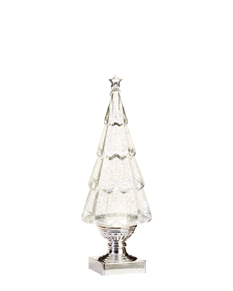 Lighted Tree with Swirling Glitter 13.75""