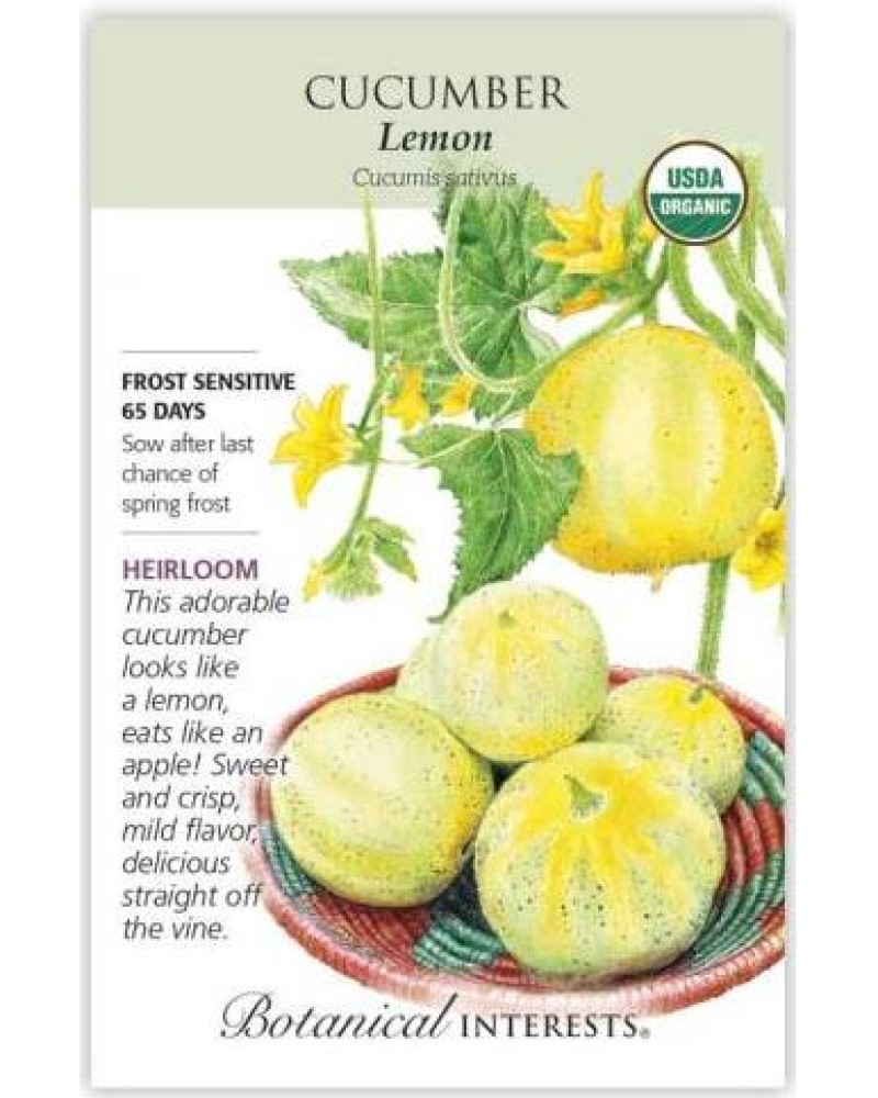 Lemon Cucumber Organic Seed Pack