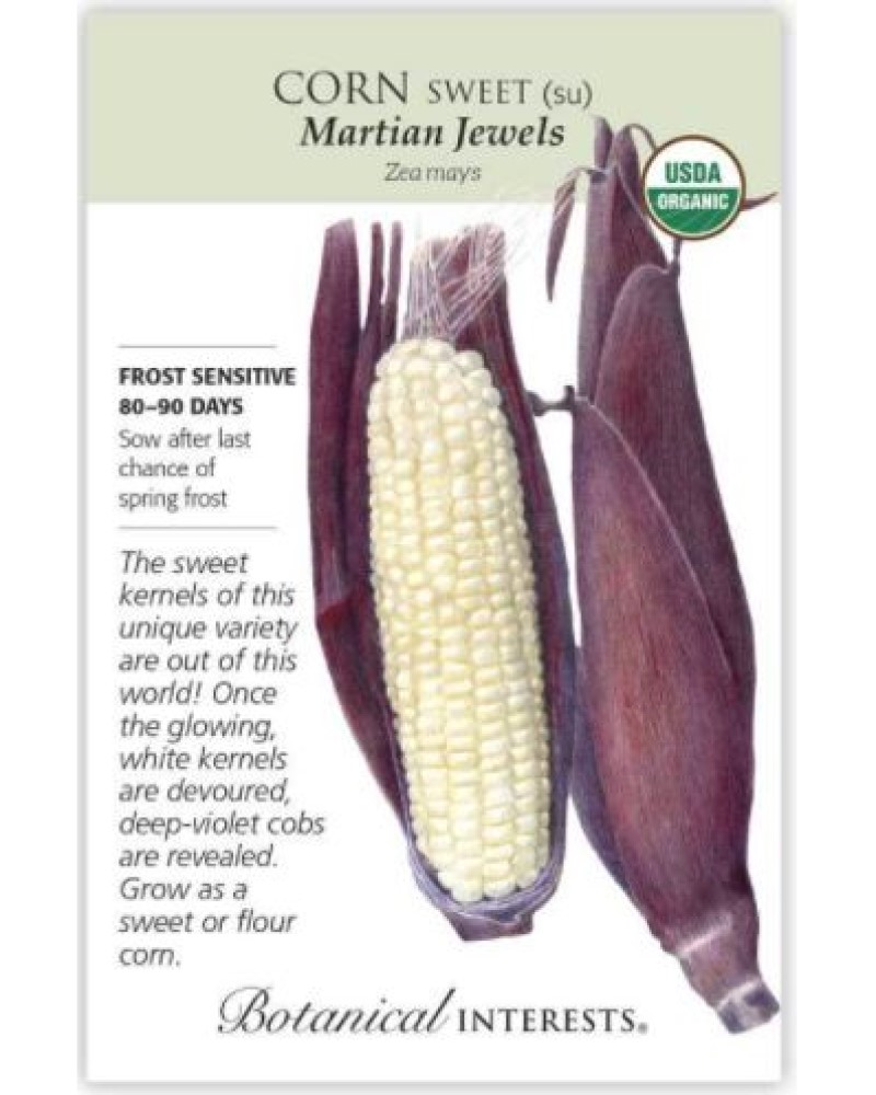 Martian Jewels Sweet Corn Organic Seed Pack