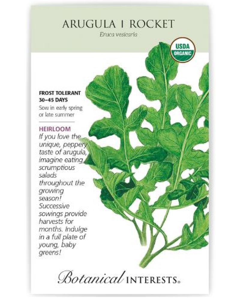 Arugula Rocket Salad Seed Pack