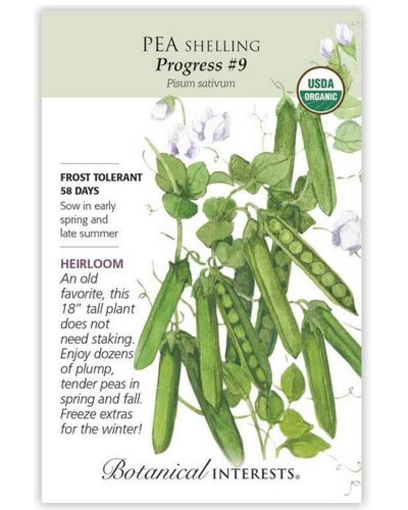 Progress #9 Shelling Pea Organic Seed Pack