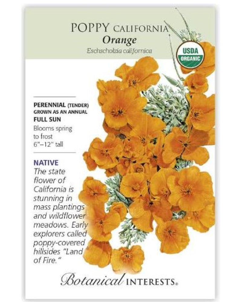 California Orange Poppy Seed Pack
