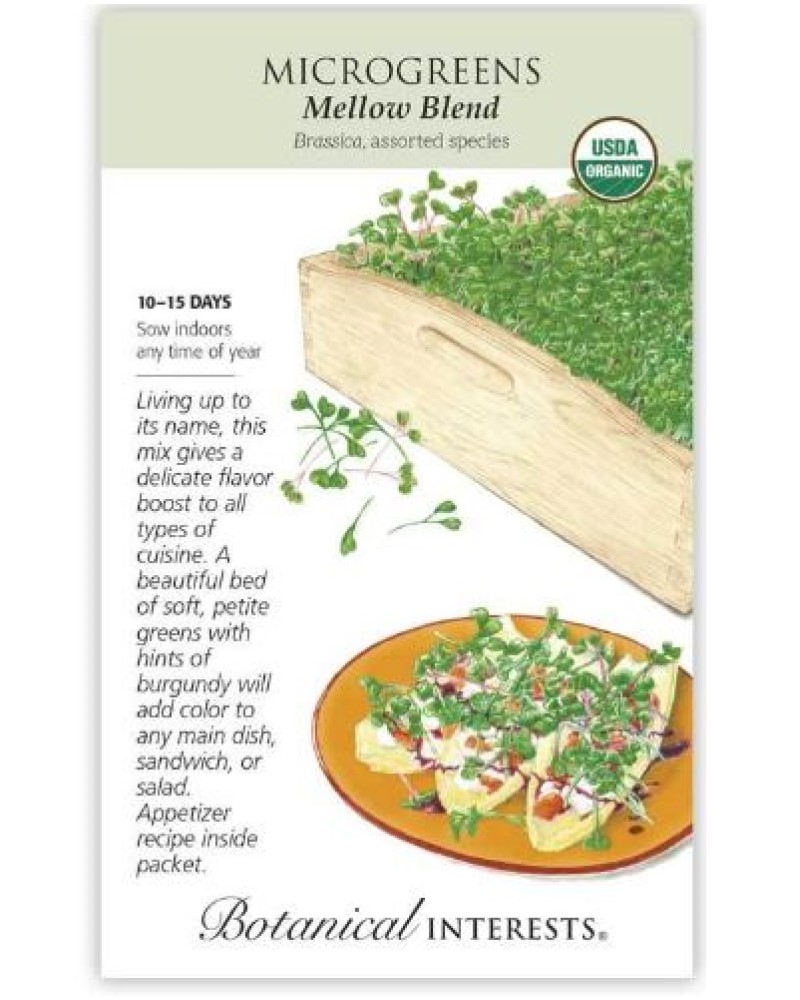 Microgreens Mellow Blend Organic Seed Pack