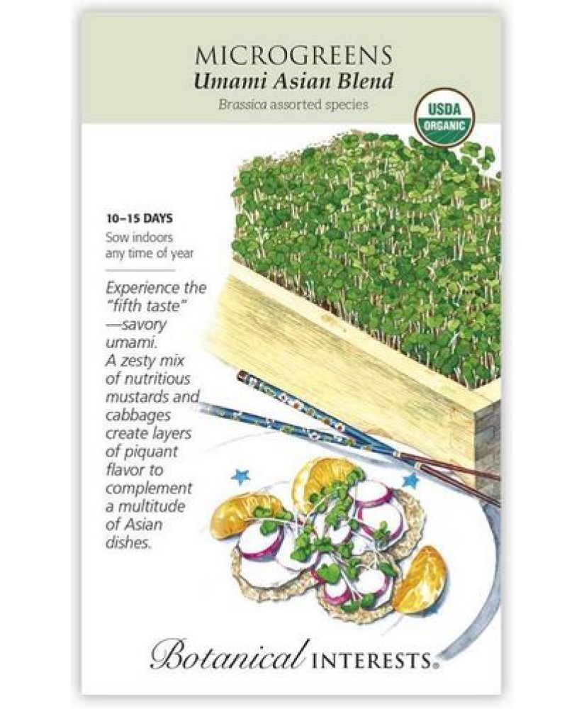 Microgreens Unami Asian Blend Seed Pack