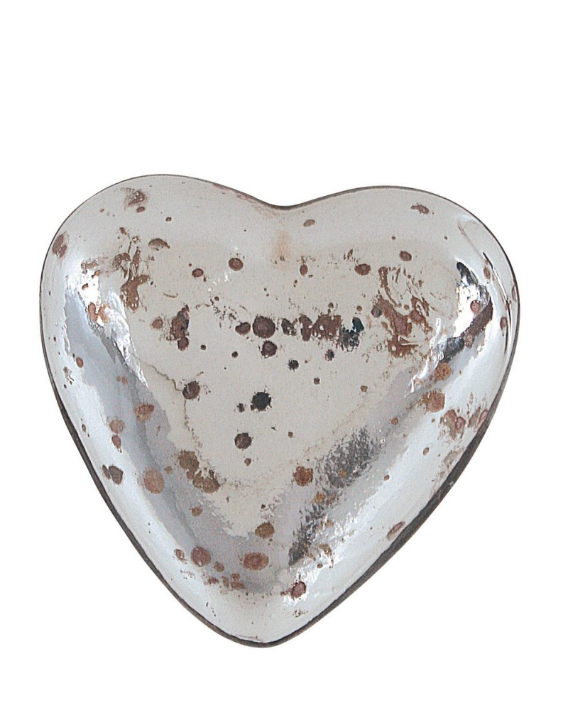 Heart Decoration Mercury Glass
