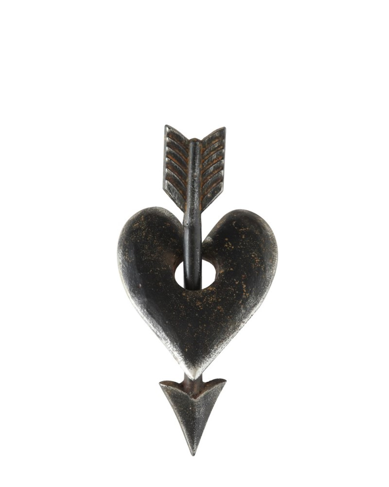 Heart and Arrow Iron Decor