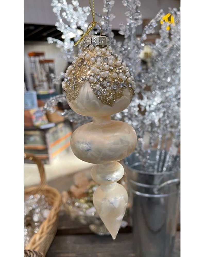 Finial Ornament with Beads