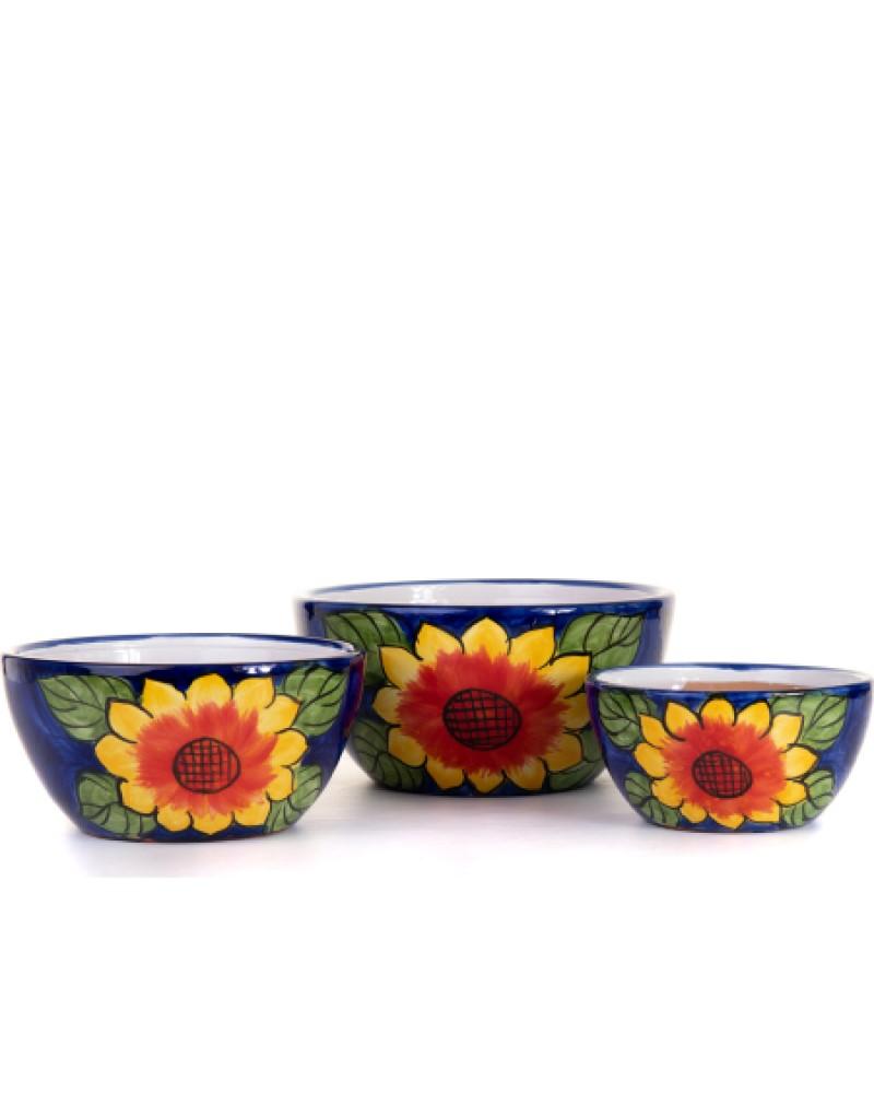 "Sunflower Bowl Planter 12"""