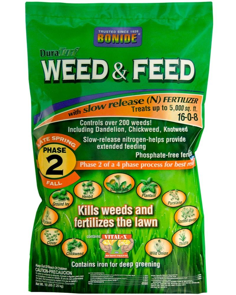 Bonide DuraTurf Weed & Feed, 16lbs