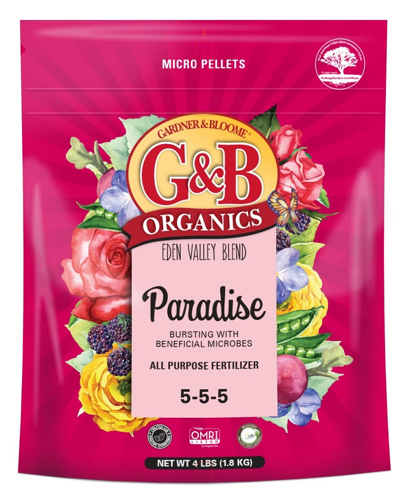 G&B Organics Paradise All Purpose Fertilizer (5-5-5) 4 lbs bag