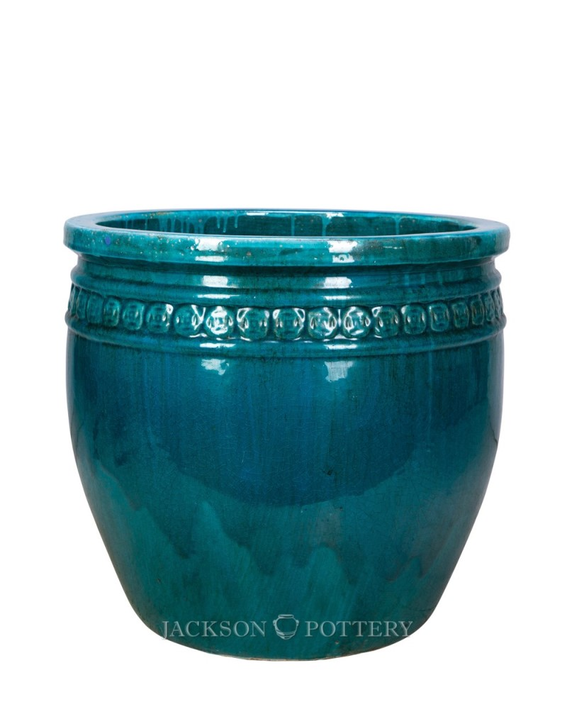 "Coin Pot 19"" Turquoise"