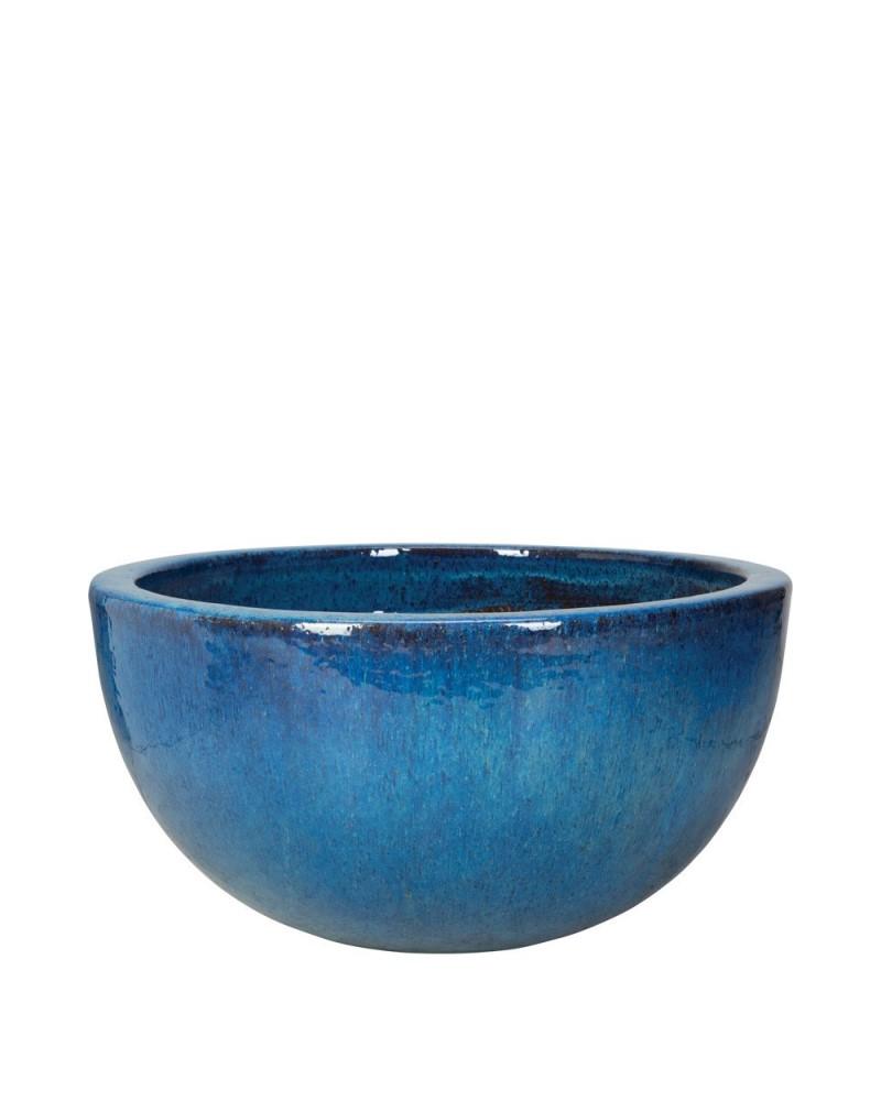 """Glazed Low Bowl 20"""" Azul"""