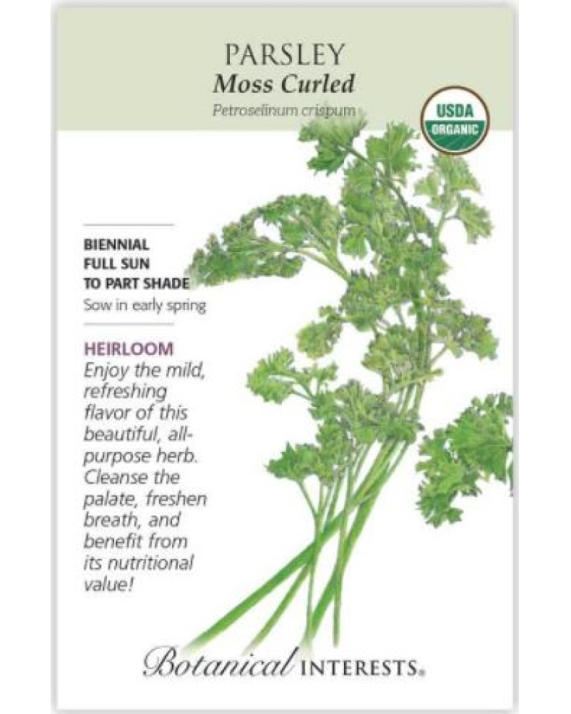 Moss Curled Parsley Organic Seed Pack