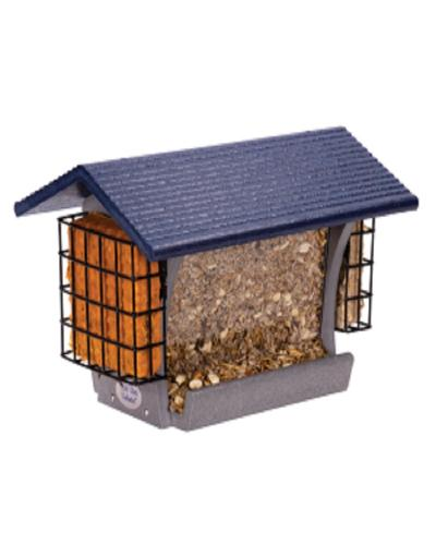 FeatherWeight Eco Large Hopper Feeder With Two Suet Feeders